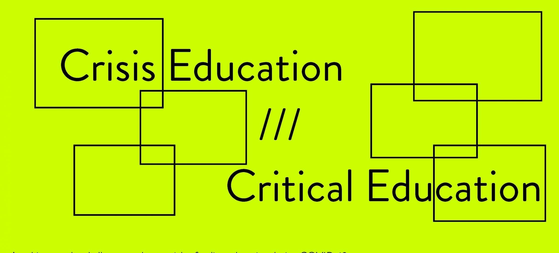 Webinar Crisis Education Critical Education