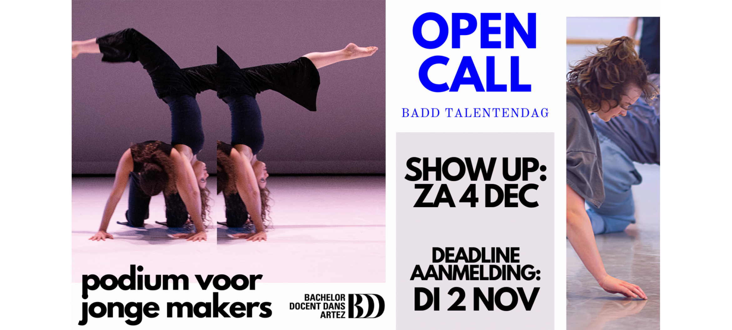 OPEN CALL   Bachelor of Dance Talent Day   SHOW UP!