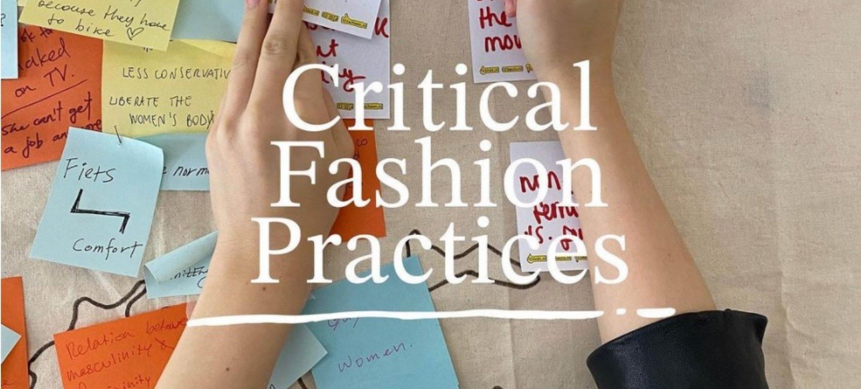 Master Fashion Strategy gaat verder als master Critical Fashion Practices