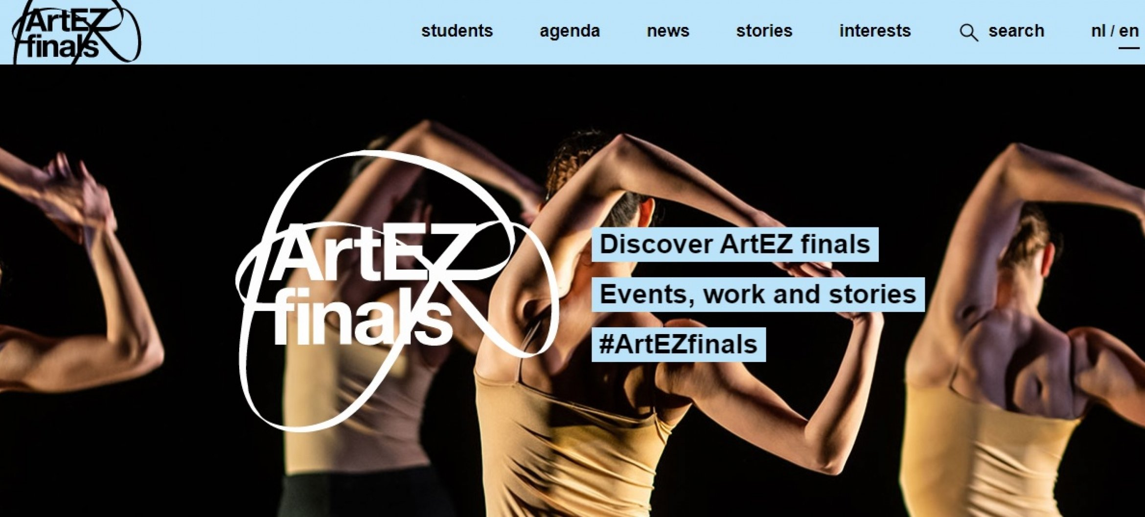 Finals website now also in English