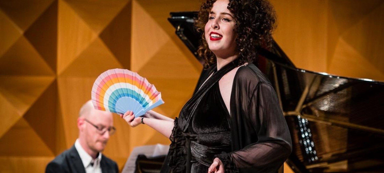 Aaike Nortier tijdens haar vorige optreden bij het Prinses Christina Concours, in 2020.
