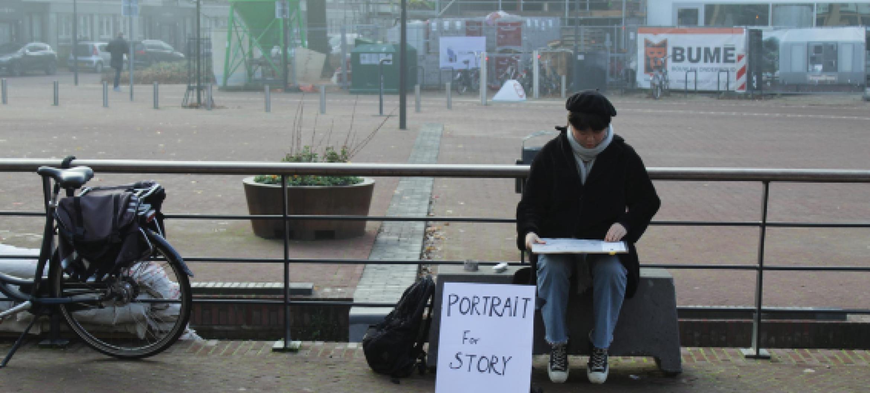 Als mentor bij ArtEZ begeleidde Rebecca Gomperts iMAE studente Fangyu Jiang bij haar project 'Portrait for Story'