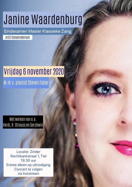 Janine Waardenburg, Master zang Klassieke Muziek (online)