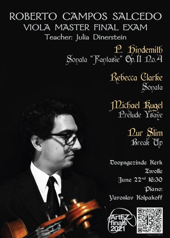 Roberto Campos Salcedo, altviool Klassieke Muziek (Master)