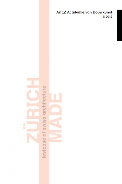 Excursiegids Zurich 2012