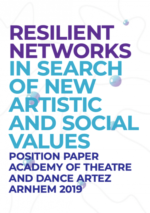 Resilient networks in search of artistic and social values