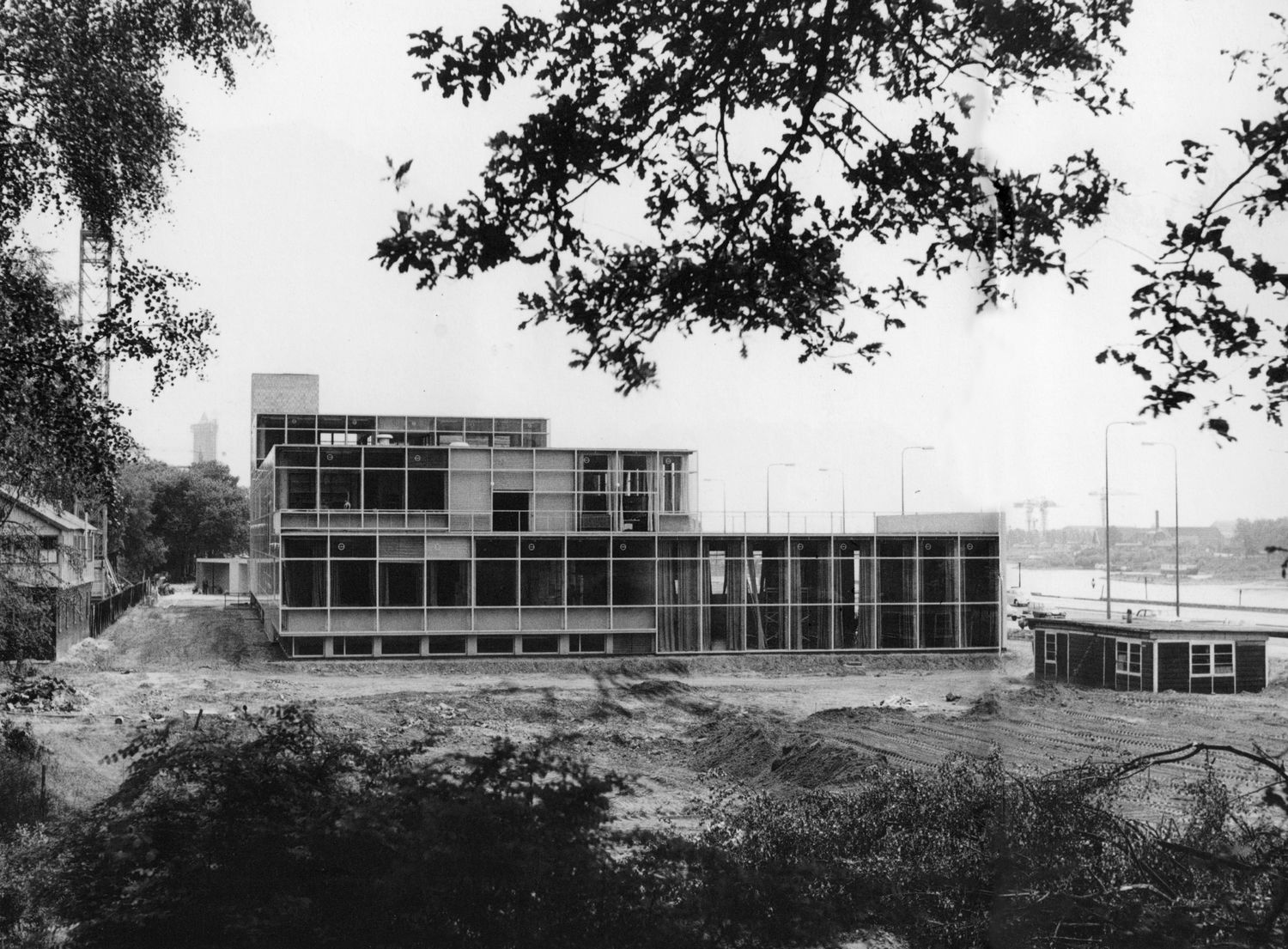From the archives Rietveld building under construction.